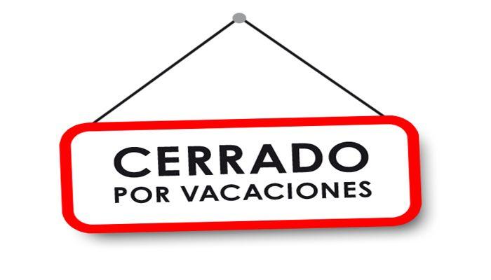 Cerrado por vacaciones grupo rojas cerrado por vacaciones thecheapjerseys Image collections